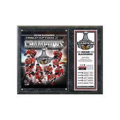 "Chicago Blackhawks 2013 Stanley Cup Champions 12"" x 15"" Plaque, Black"