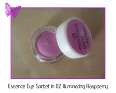 review - essence eye sorbet in 02 illuminating raspberry Makeup Drawer, Cream Eyeshadow, Sorbet, Hello Everyone, Swatch, Raspberry, Raspberries