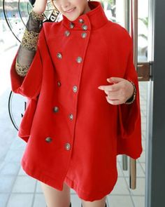 SHARE & Get it FREE | Stylish Stand Collar Double-Breasted Cape Coat For WomenFor Fashion Lovers only:80,000+ Items • New Arrivals Daily • FREE SHIPPING Affordable Casual to Chic for Every Occasion Join RoseGal: Get YOUR $50 NOW!