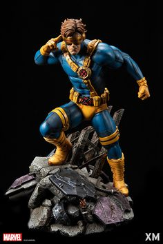 Pre-Order XM Cyclops now here with us in europe. Recognized as a leader of the X-Men, Cyclops! Marvel Comic Character, Marvel Characters, Marvel X, Marvel Heroes, Marvel Statues, 3d Art, Xmen, Comic Art, Action Figures