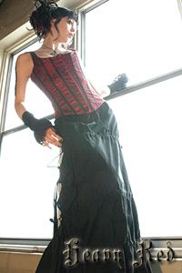 Heavy Red Couture Noir - Gothic/Victorian inspired to die for fashion