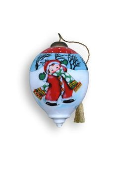 Ne'Qwa Art Hugs and Kisses - Glass Ornament Hand-Painted