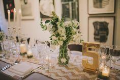 Simple yet elegant table decor. wedding inspiration.