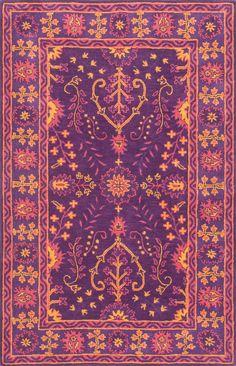 Gita Hand-Tufted Purple Area Rug