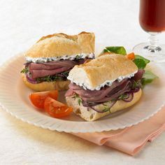Beef and Blue Sandwich Recipe