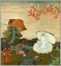 Edmund Dulac (1882 – 1953) was a French magazine illustrator, book illustrator and stamp designer. Birth of the Pearl