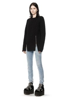 ALEXANDER WANG CABLE KNIT PULLOVER