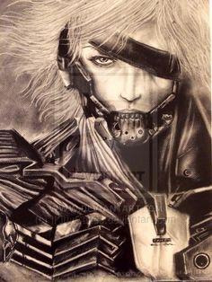 Charcoal Raiden - Metal Gear Rising Reveangance by IKittyCakes.deviantart.com on @deviantART