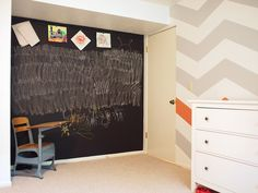 want to paint dillons wall with chalkboard paint!  and chevron on the other!!!