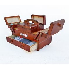 Reserved Until 11/2/14 For Chris - Mid Century Singer Cantilever Sewing Box…