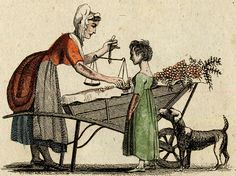 Cries of London, illustrated 1803 from Spitalsfield blog Cherries, Threepence a Pound