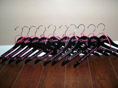 Wedding Hangers, Personlized Brides/Bridesmaids Hangers/Custom Wedding Hangers by MadeByCRose on Etsy