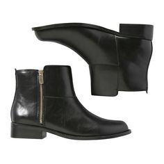 7589a848d150 Joe Fresh Black Ankle Boots with zip Black Booties