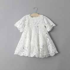 The perfect dress for your boho baby. Crochet bell sleeves and fringe detail set this dress apart from the rest.  Style it with our cute Fox Socks or a beautifu