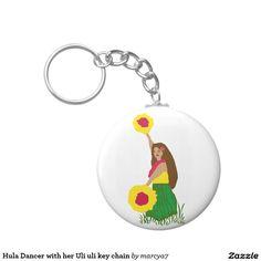 Hula Dancer with her Uli uli key chain