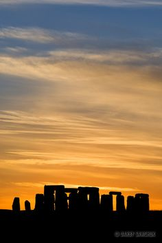 Stonehenge at sunset in Wiltshire, England  |  UNESCO World Heritage Site | Darby Sawchuk