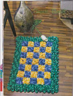 Tapete Brasil em ponto wiggly (ponto labirinto) -  Agulha & Linha: Fevereiro 2013