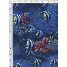 The colors and shading in this blue coral reef aquatic fabric are simply exquisite! www.americasbestthreads.com