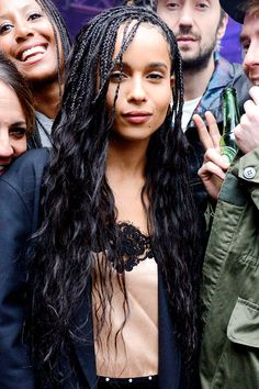 "celebritiesofcolor: ""Zoe Kravitz attends MILK Studios Makeup Line launch rager in NYC """