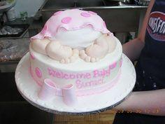 Baby Girl Cake Idea--Cute-Cute-Cute!