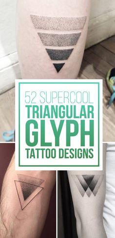 Triangular Glyph Tattoo Designs