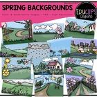 Spring Backgrounds Clip Art Bundle by EduClips on Etsy