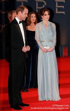 Kate Wears Blue, Bespoke Jenny Packham for Spectre Premiere