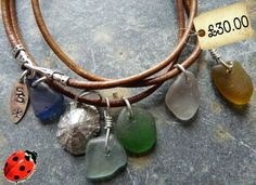 I was just randomly hopping about t'interwebs, like you do, and look what i saw. My heart actually did a little skippety-flip. Leather cord with sea glass charms and a fine silver sea shell. I want it. Really badly a lot. Made by, and available from, the wonderful SeaSparkle for a mere thirty of your …