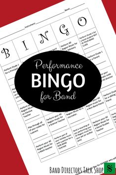 When audition music comes around, we're diligent about making sure that no part of that music goes unscrutinized - we, and our band students, want their performance to be as perfect as possible. We also know that even the best of our musicians can have a bad audition due to nerves and performance anxiety. Performance Bingo is a genius way to help remedy the fear of performing! Band and orchestra directors, click here for a downloadable PDF and try it with your students… Music Theory Games, Music Education Games, Music Activities, Music Lesson Plans, Music Lessons, Piano Lessons, Bingo, Music Classroom, Music Teachers