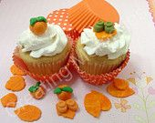 24 Mix Fondant Autumn Cupcakes Toppers