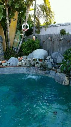 Home Decor Living Room 56 ideas backyard water feature waterfalls swimming pools.Home Decor Living Room 56 ideas backyard water feature waterfalls swimming pools Casa Rock, Goth Home Decor, Backyard Water Feature, Skull Decor, Dream Pools, Gothic House, Victorian Gothic Decor, Cool Pools, My Dream Home