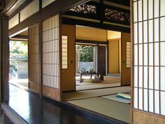 Architecture Open View Dining And Living Room Decorating For Traditional Japanese House Plans With Sliding Doors And Dark Terrace And Cozy Tatami Designs Japan Architecture House Design Modern Japan Architecture House Design Japanese Living Room Design Ideas, Japanese Living Rooms, Japanese Style House, Traditional Japanese House, Japanese Interior Design, Japanese Design, Japanese Homes, Japanese Door, Japanese Bamboo