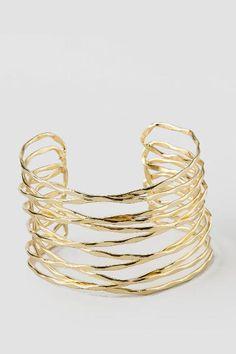 Sparti Hammered Metallic Cuff Bracelet $16.00