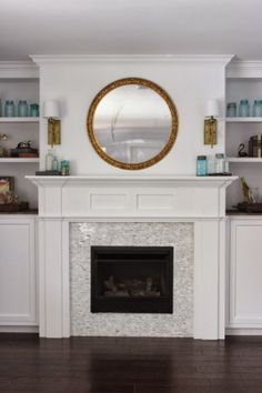 Fireplace Tile Design Ideas our new fireplace fireplace tile surroundfireplace tilesfireplace remodelfireplace Built In Fireplace And Cabinets Tutorial Fireplace Facadefireplace Tilesfireplace Remodelfireplace