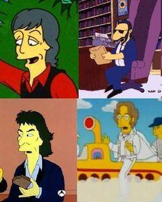 The Beatles (the Simpson) Foto Beatles, Beatles Funny, Beatles Band, Beatles Photos, The Beatles, Great Bands, Cool Bands, John Lenon, John Lennon Paul Mccartney