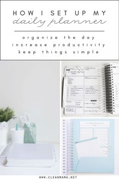 How I set up My DAILY Planner - Clean Mama