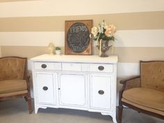 Vintage buffet restored by UniqueAntweaks in Annie Sloan chalkpaint. Completely brought this piece back to life.