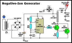 Electrical and Electronics Engineering: Negative-Ion Generator Circuit! Electronics Engineering Projects, Electronic Engineering, Electrical Engineering, Electronic Circuit, Electrical Tools, Mechanical Engineering, Ac Circuit, Circuit Diagram, Circuit Board