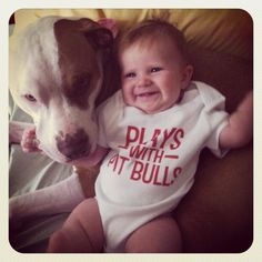 Plays with pit bulls :)