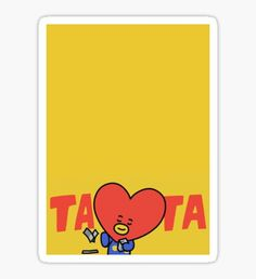 BTS - Tata - By V Pegatina Kawaii Wallpaper, Bts Wallpaper, Bts Drawings, Bts Chibi, Aesthetic Stickers, Bts Lockscreen, Printable Stickers, Sticky Notes, Aesthetic Anime