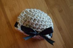 Newborn infant baby girl crochet hat by LjsCrochetedTreasure