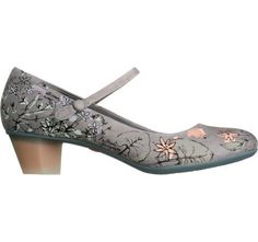 A grey floral heeled mary jane? What's not to love?