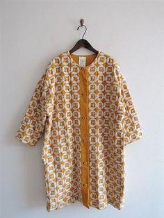 ミナペルホネンランドリー  mina perhonen laundry dear 刺繍使いコーデュロイコート