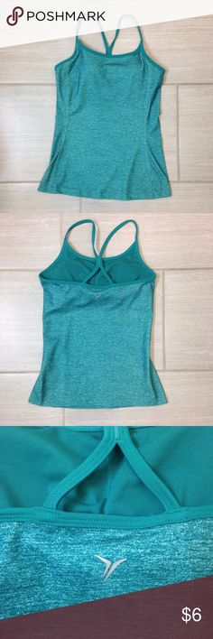 Old Navy Active Tank Top Old Navy Active Tank Top Color: Tsunami (teal) Size: Small  The color of this tank top is beautiful! This is a great workout top with a built in bra.  Wonderful for exercise! Old Navy Tops Tank Tops