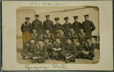 HMS Bellerophon Crew Photographs   Peoples Collection Wales