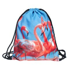 Beutel Flamingo Aufdruck Fullprint Tasche Gymsac Turnbeutel Jutebeutel Print Bag Fitness: Amazon.de: Koffer, Rucksäcke & Taschen