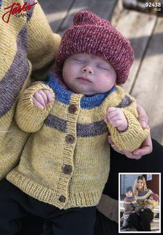 'Yllis' - knitted children's jacket in Ylle Baby Barn, Crochet Hats, Beige, Jackets, Crafts, Knitting Ideas, Crocheting, Fashion, Patrones