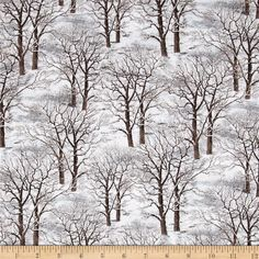 Sleigh Ride Trees Allover Gray from @fabricdotcom  Designed by John Sloane and licensed to Wilmington Prints, this cotton print is perfect for quilting, apparel and home decor accents. Colors include shades of white and gray, with brown.