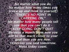 no matter what you do