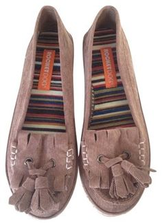 Rocket Dog Moccasins Tassles Tan Brown Flats